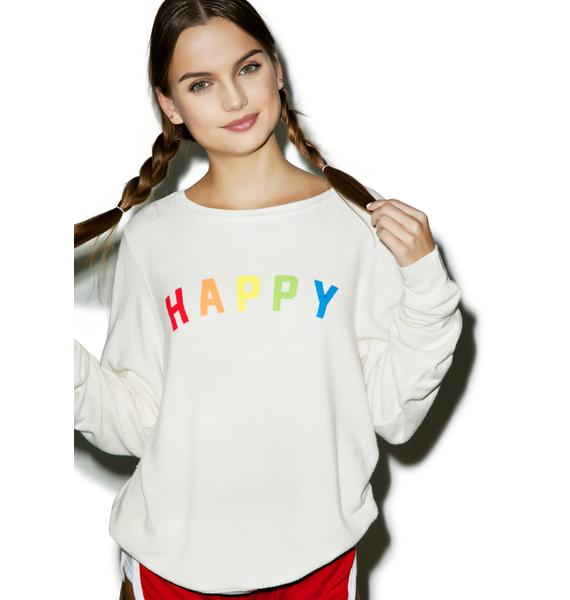 Wildfox Couture Happy Girl Baggy Beach Jumper