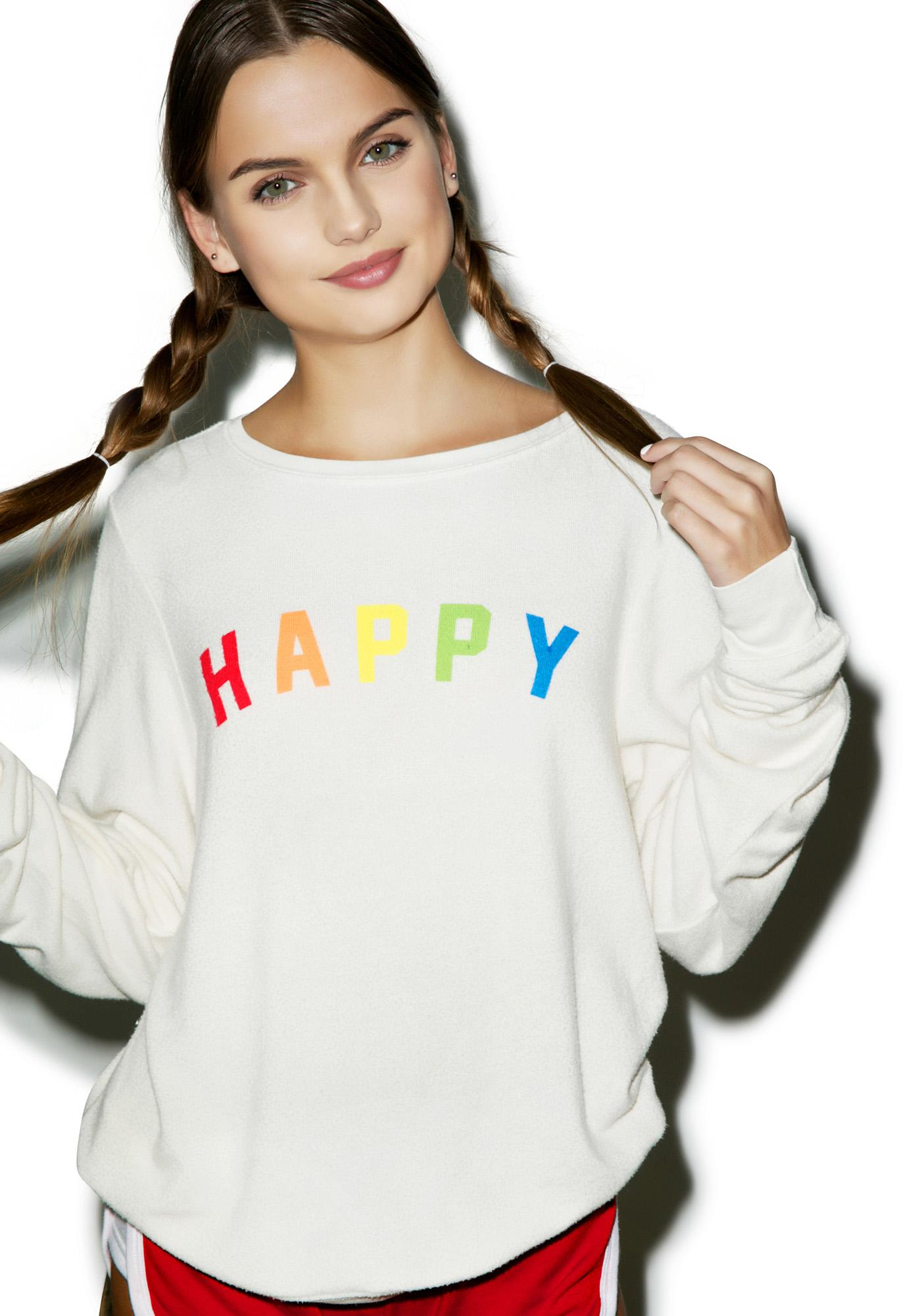 d21058ae4e Wildfox Couture Happy Girl Baggy Beach Jumper | Dolls Kill