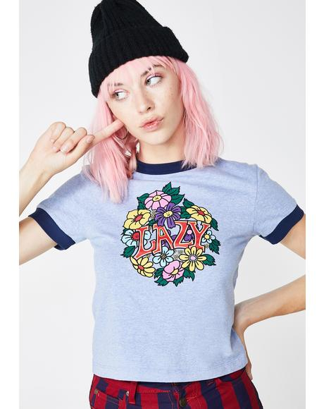 Lazy Retro Ringer Graphic Tee