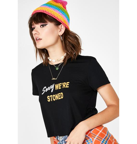 not another label Stoned Crop Tee