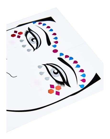 Teardrop Face Jewels
