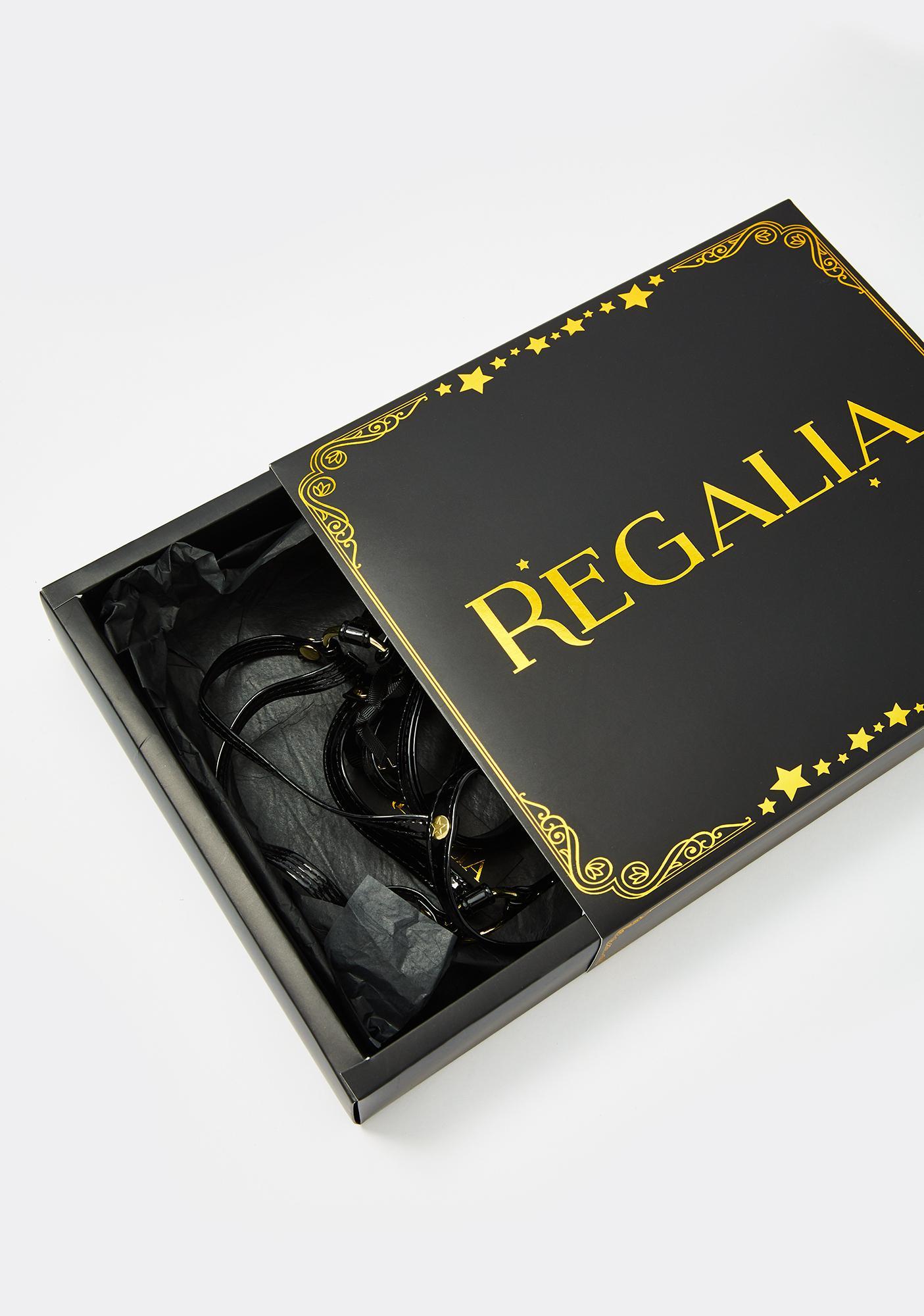 Regalia Black Open Harness Bra