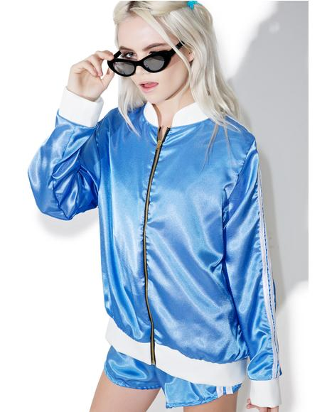 Silk Kitten Bomber Jacket