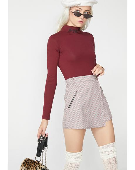 Coolaid Be Kind Rewind Plaid Skirt