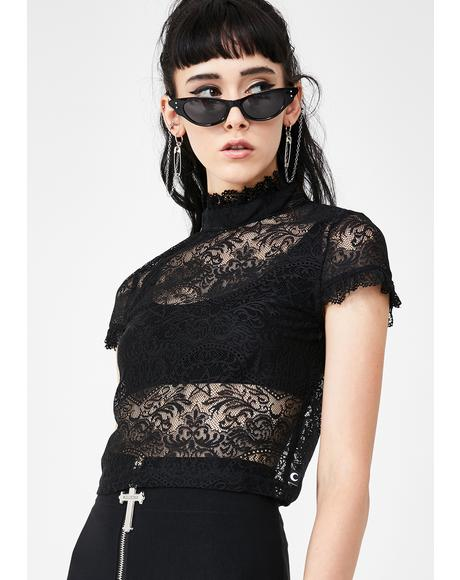 Ava Lace Crop Top