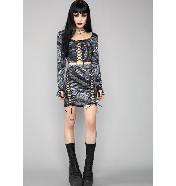 Widow Catacomb Crypt Mini Skirt