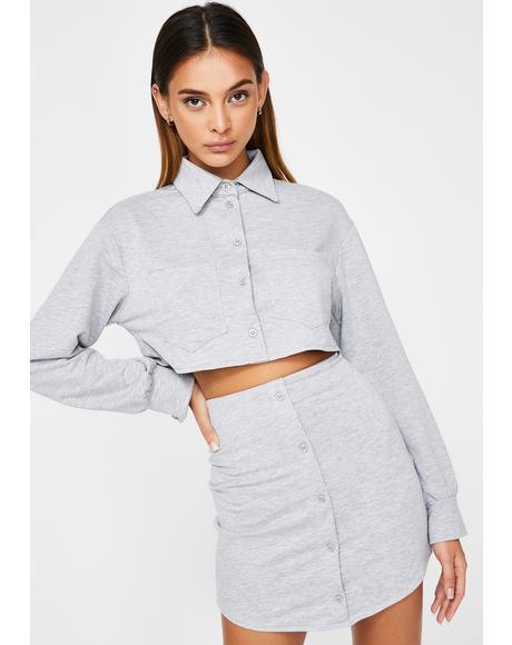 Rocky Gray Skirt Set