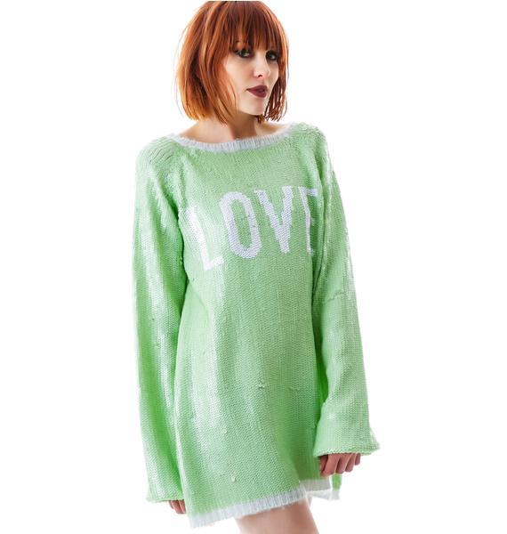Wildfox Couture Sparkling Love California Dream Sweater