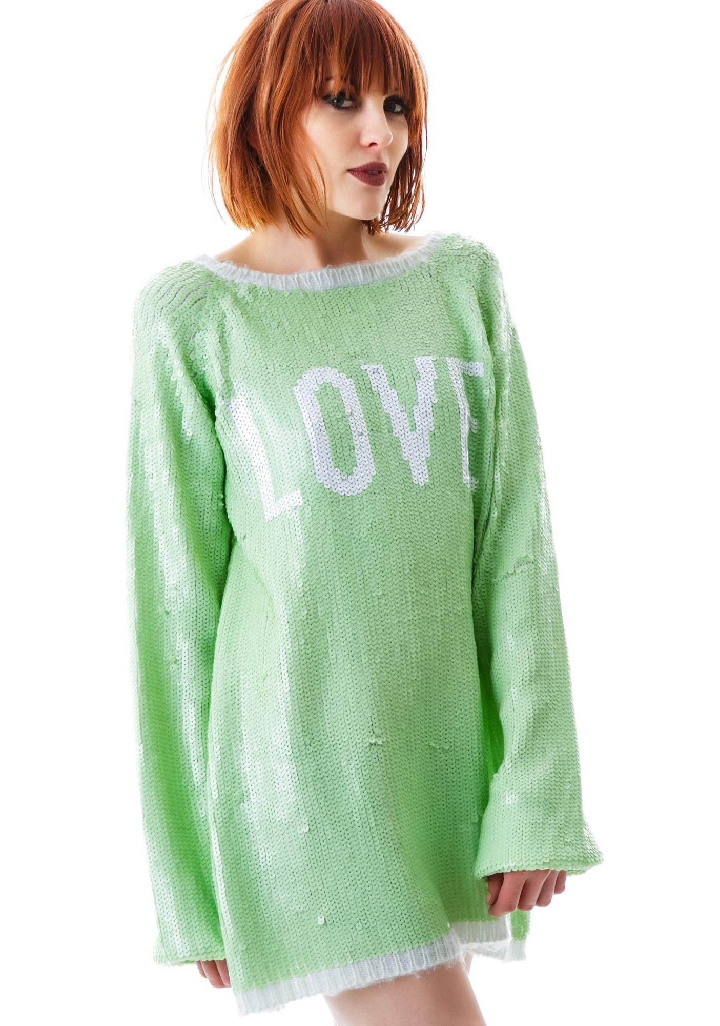 Wildfox Couture Sparkling Love California Dream Sweater