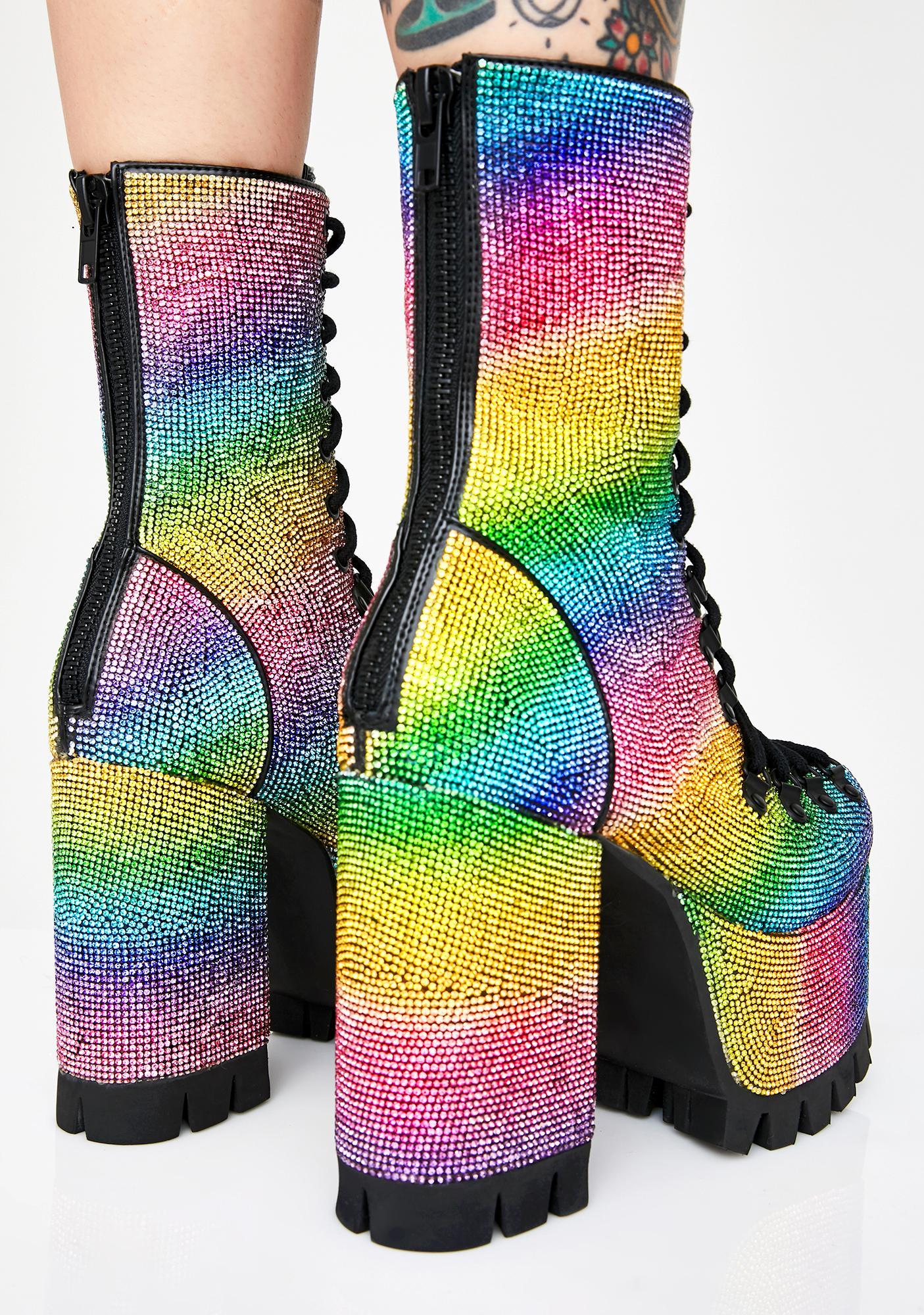 Club Exx Candylicious Rhinestone Boots