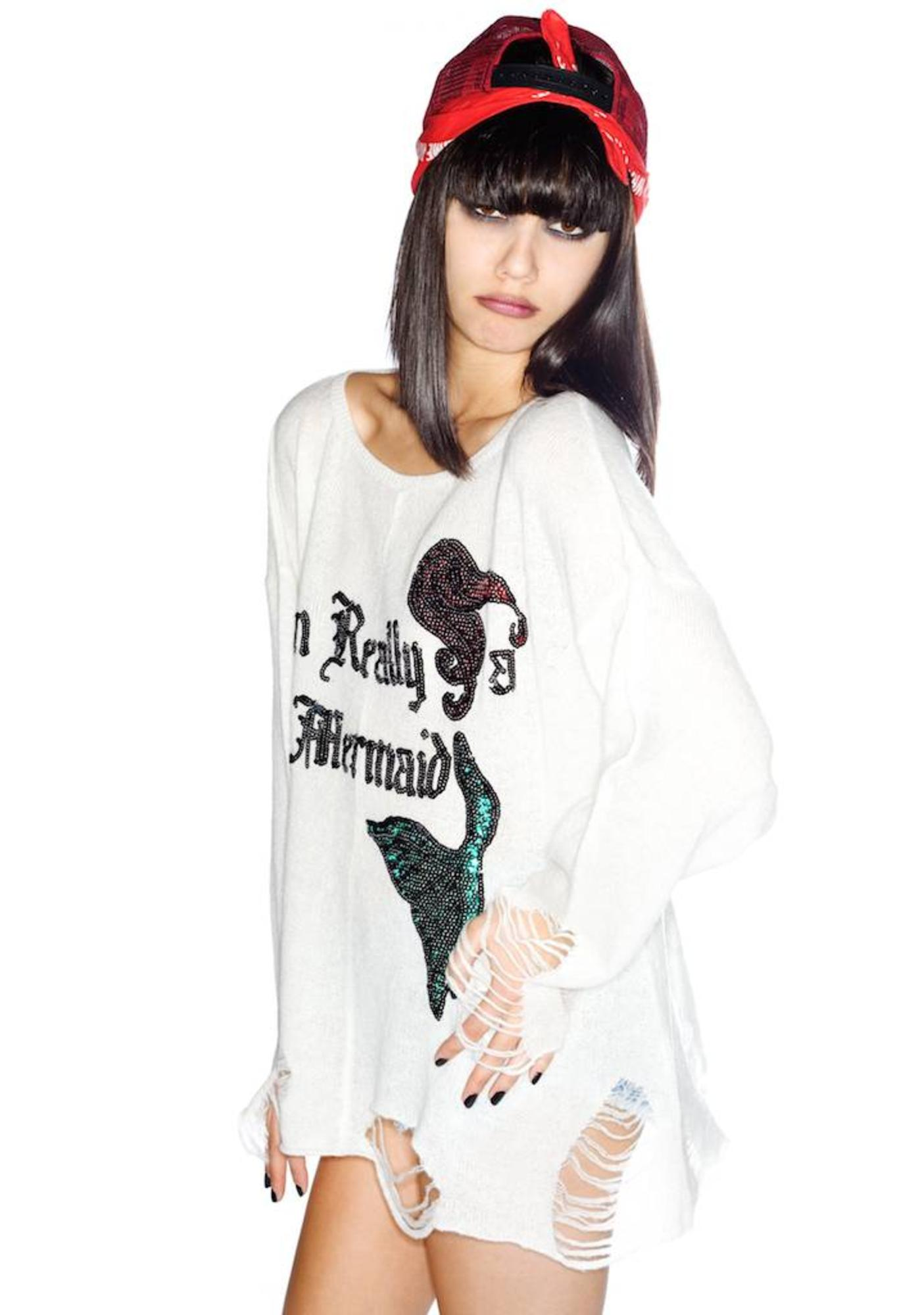 Wildfox Couture Really a Mermaid Lennon Sweater