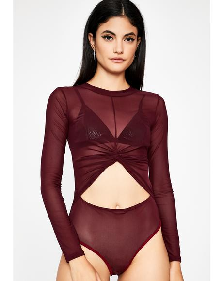 Hot Bish Bye Sheer Bodysuit