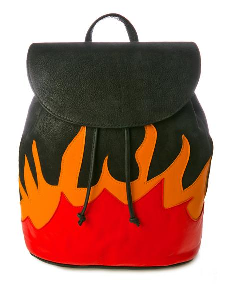 Leather Flame Backpack