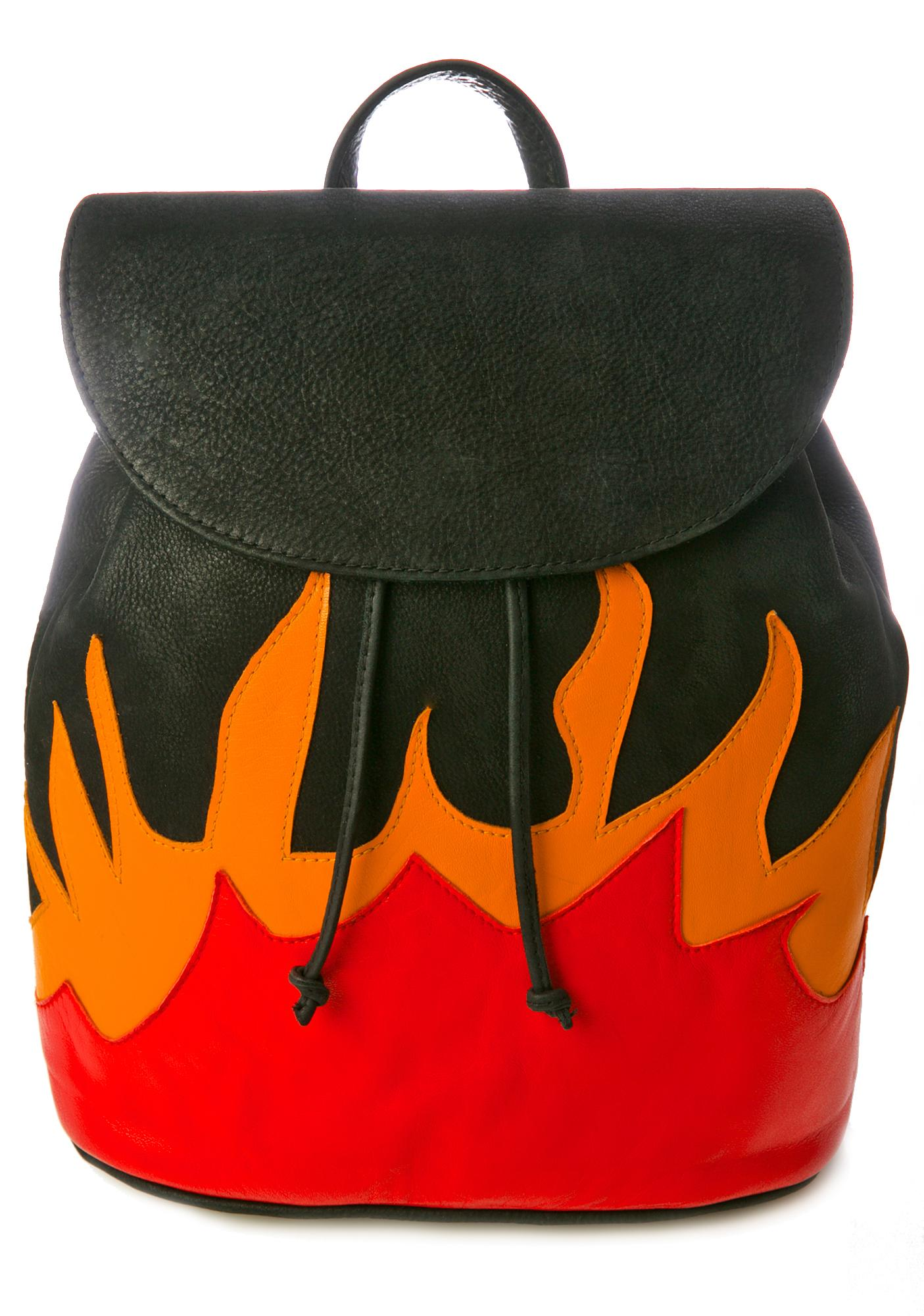 American Vintage Leather Flame Backpack