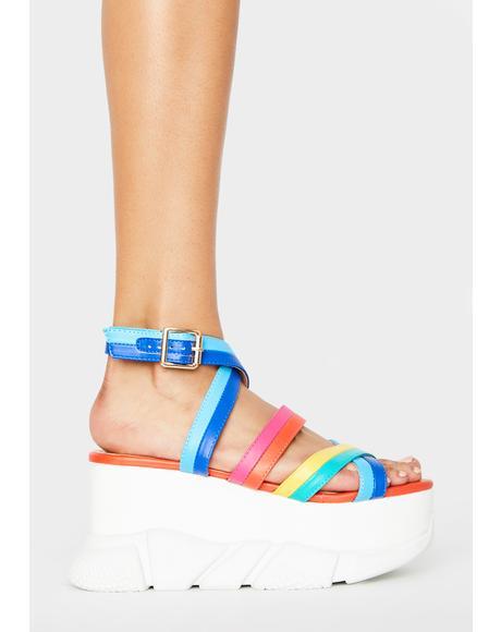 Epic Wantin' More Platform Sandals