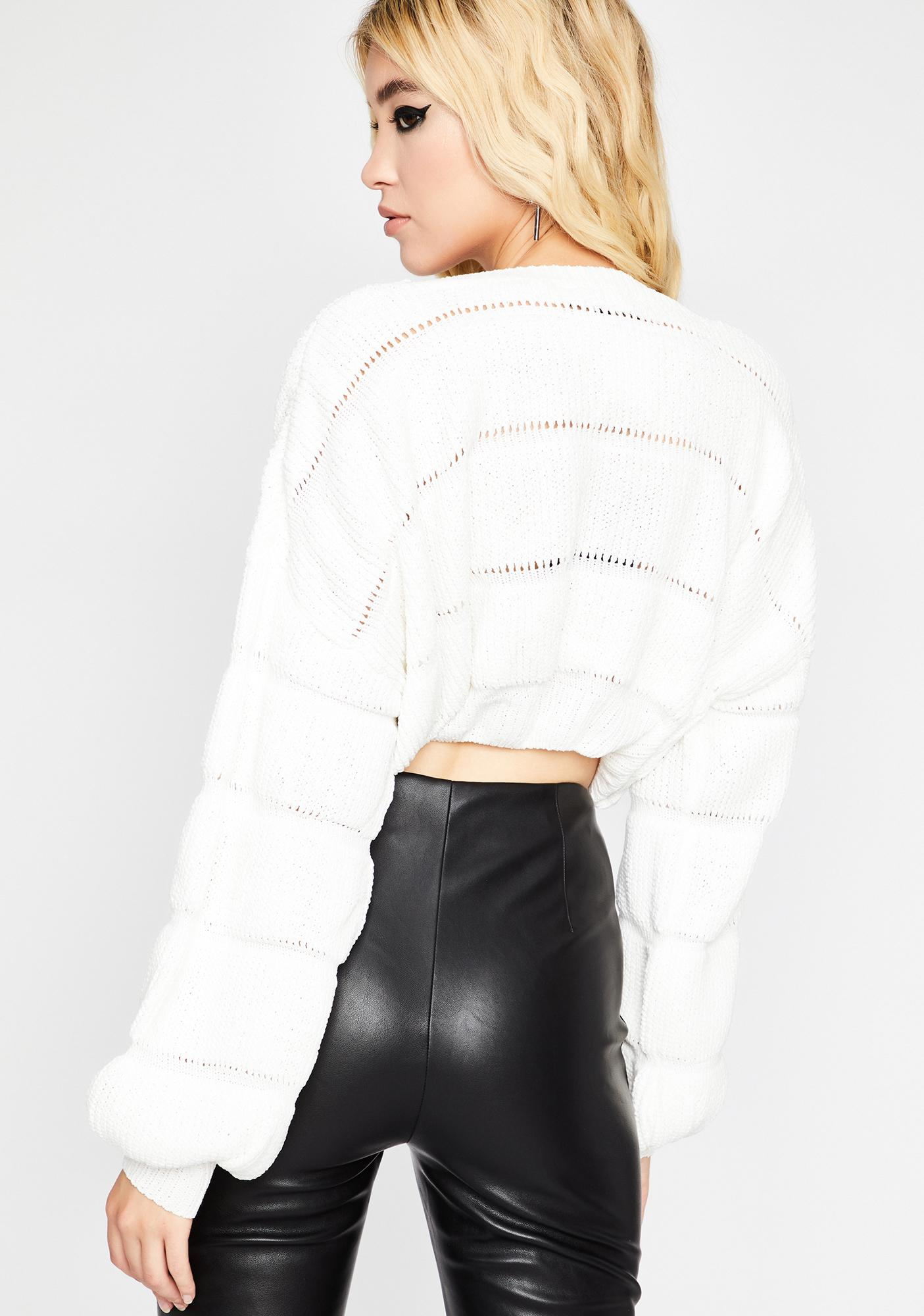 Chill She's Moody Cropped Sweater