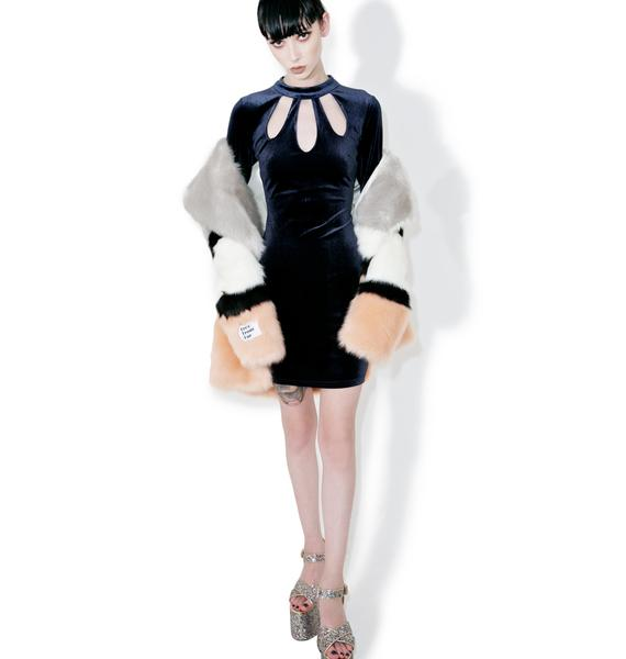 Glamorous Halle Velvet Cut-Out Bodycon