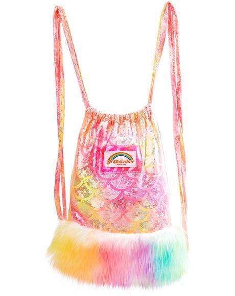 Sunset Mermaid Light-Up Mini Backpack