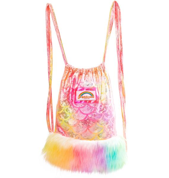 J Valentine Sunset Mermaid Light-Up Mini Backpack