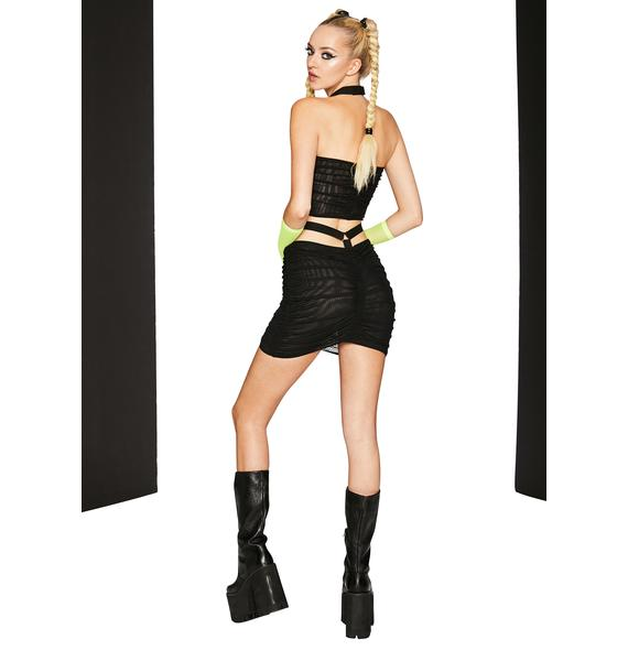 Club Exx To The Wire Ruched Skirt Set