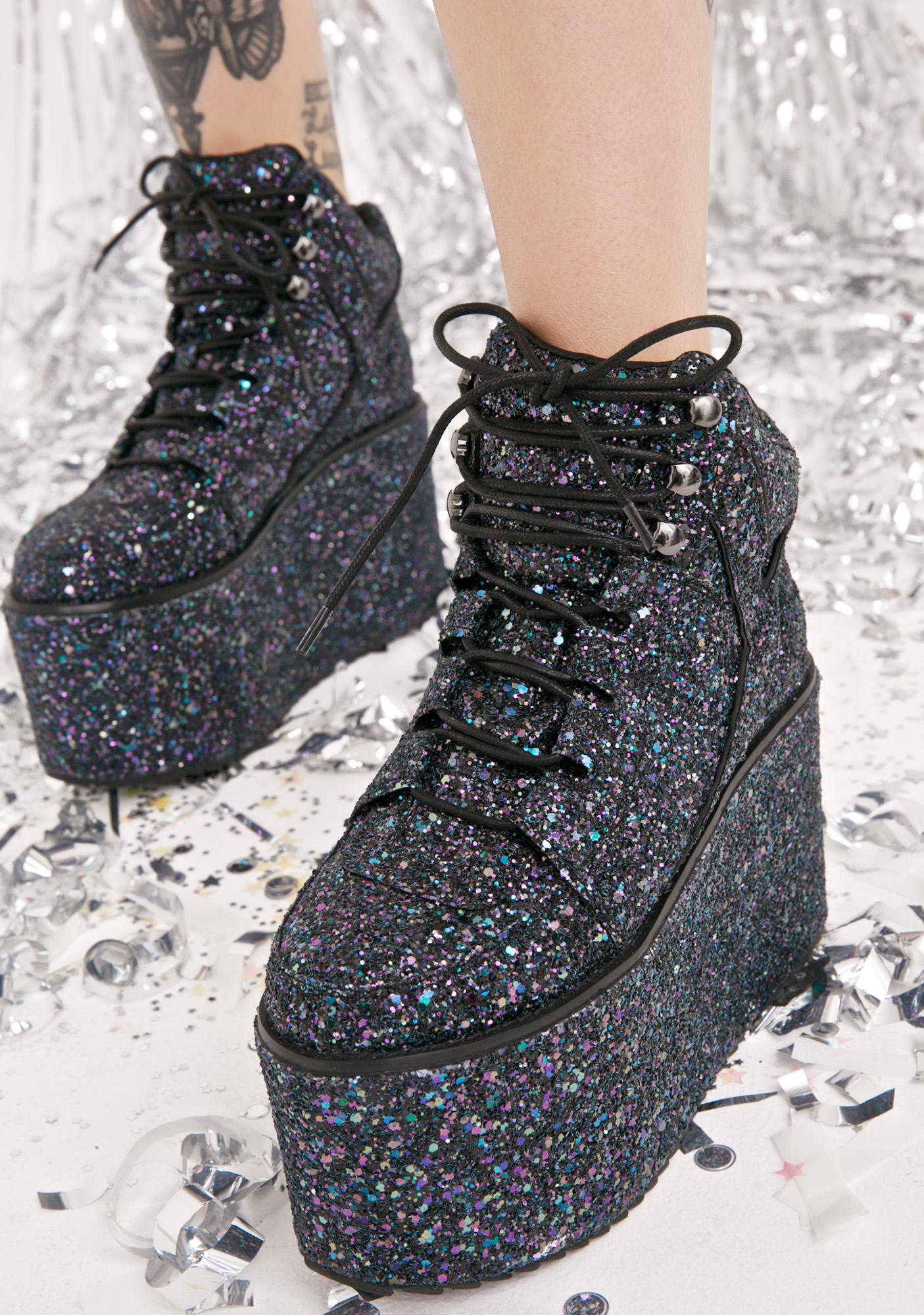 Y.R.U. Qozmo Hi Glitter Sneakers