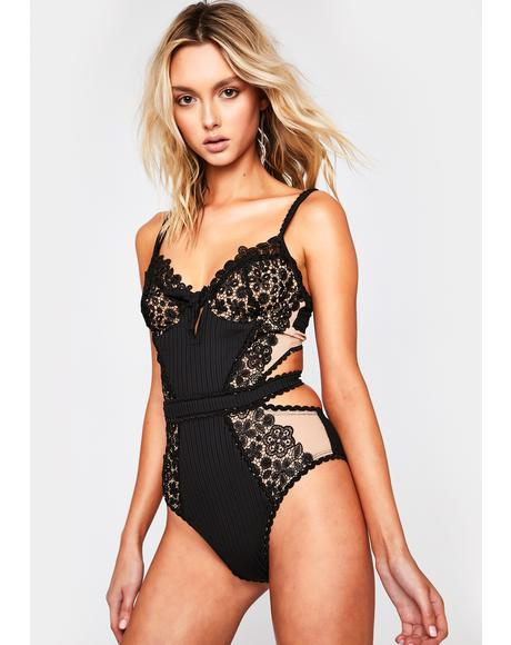 Daisy Lace One Piece Swimsuit