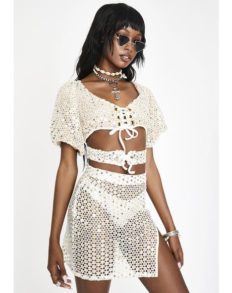 White Mirror Poppy Mini Skirt