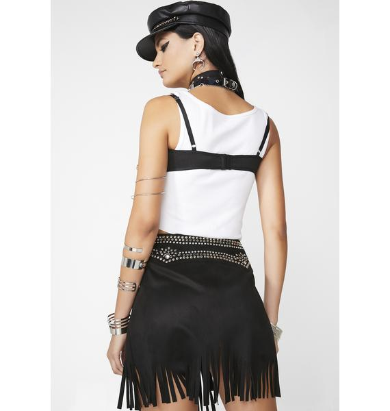 Club Exx Dust Frenzy Studded Skirt