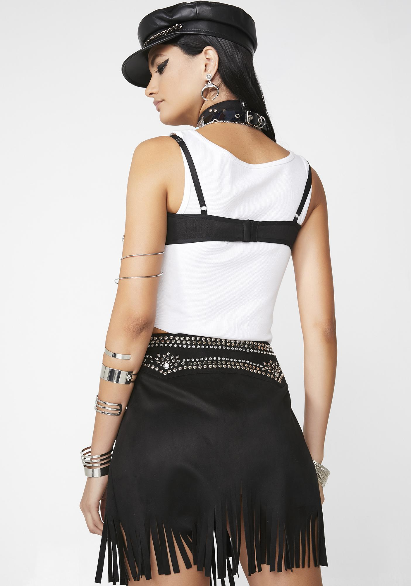 Club Exx Dust Frenzy Studded Skirt
