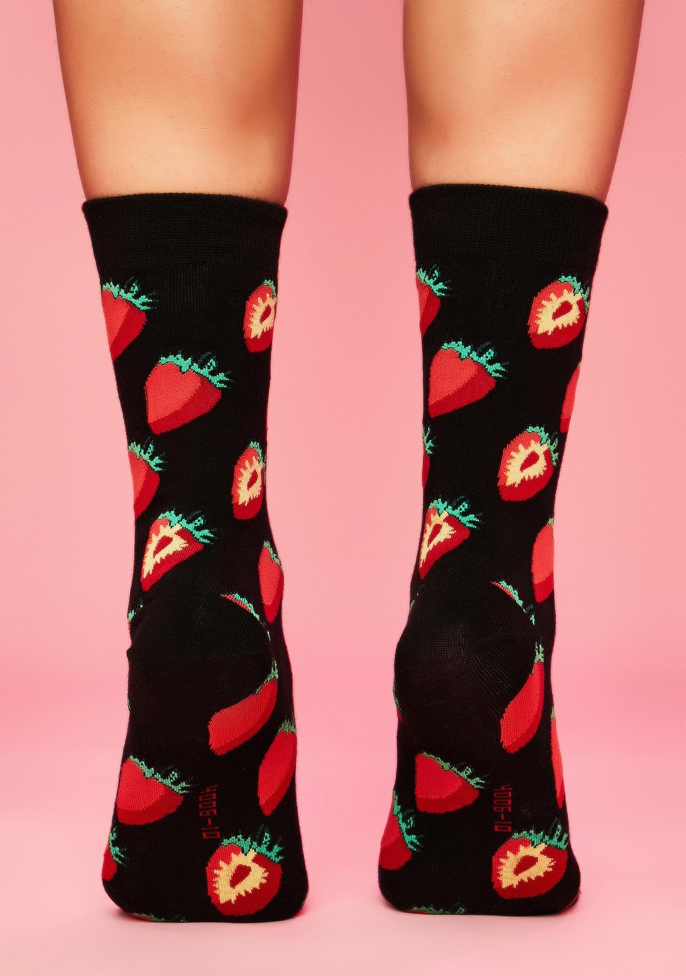 Strawberry Swing Crew Socks