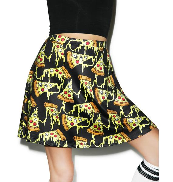 Sourpuss Clothing Pizza Party Skater Skirt