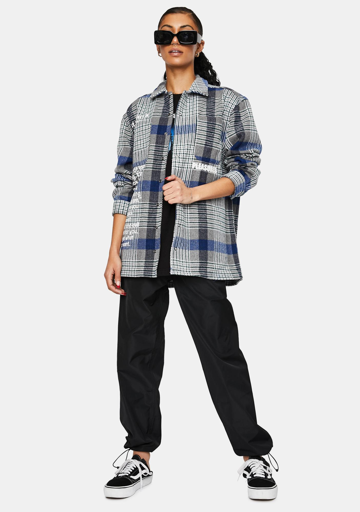 Pleasures Forces Plaid Overshirt