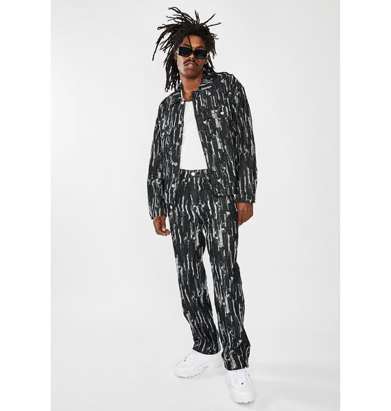 Jaded London Black Drag Ripped Denim Jacket