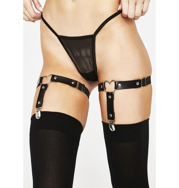 Lust Fetish Heart Garters