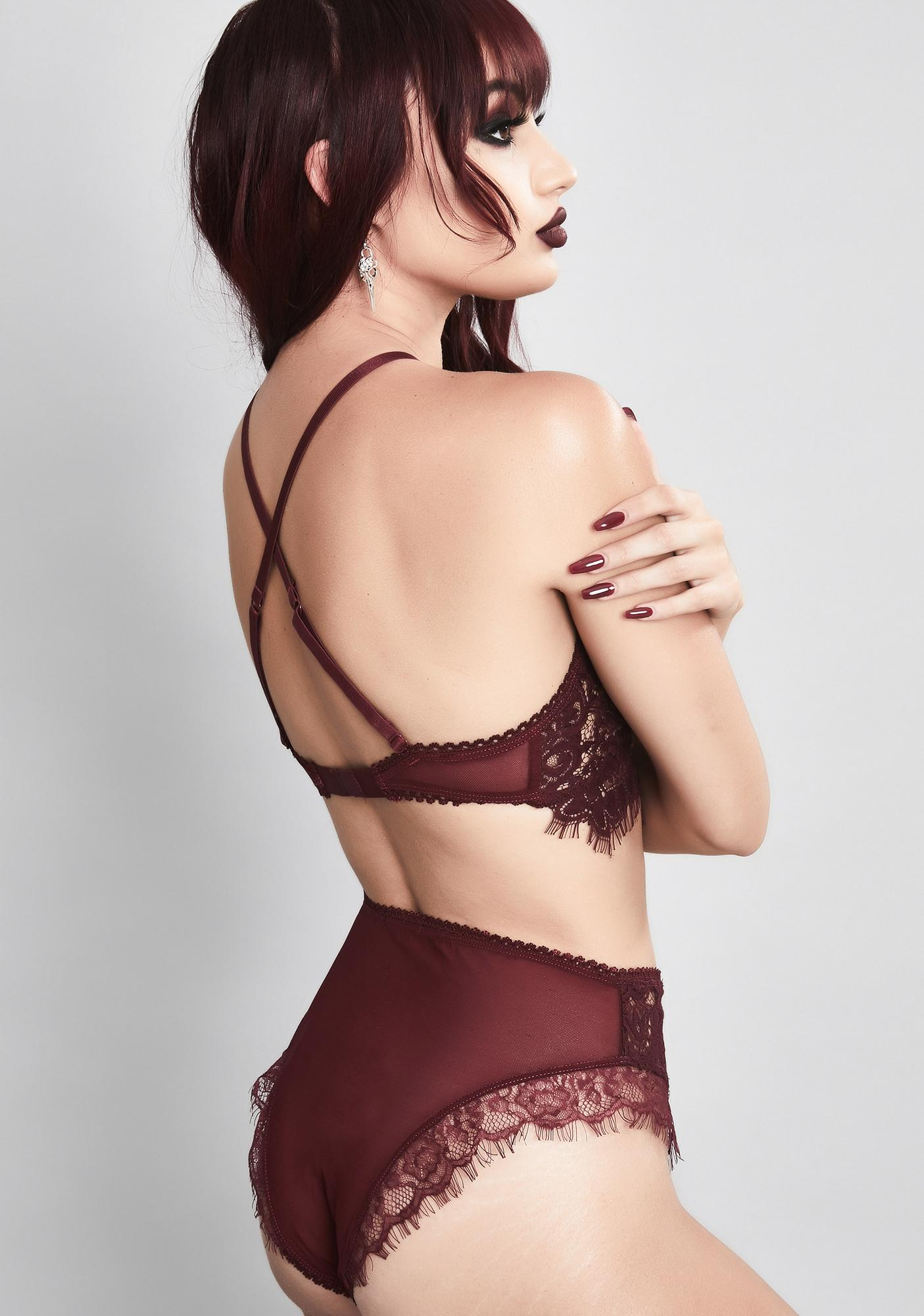 Widow Wine Haunted Harlow Lace Panties
