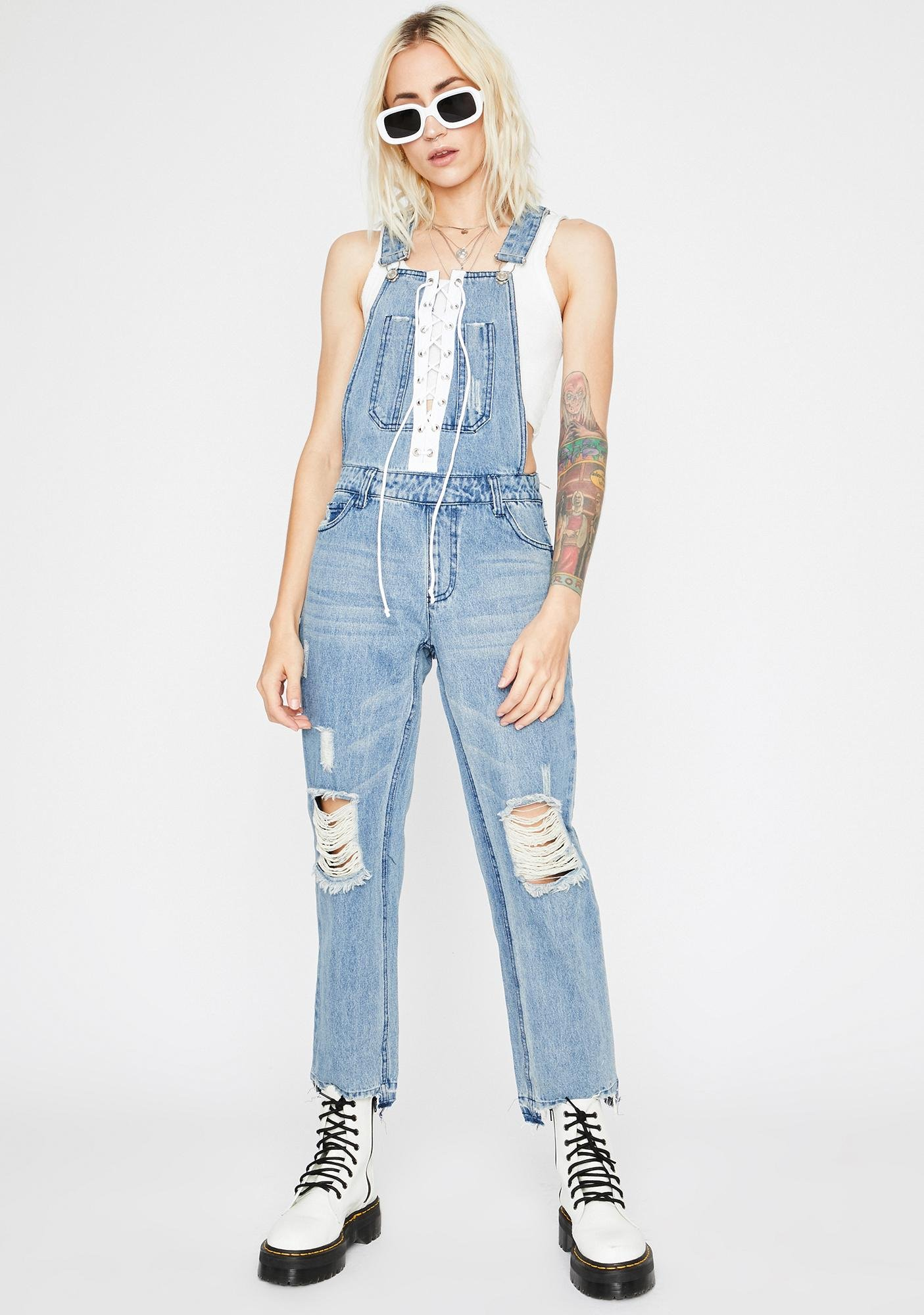 Laced With Luv Denim Overalls