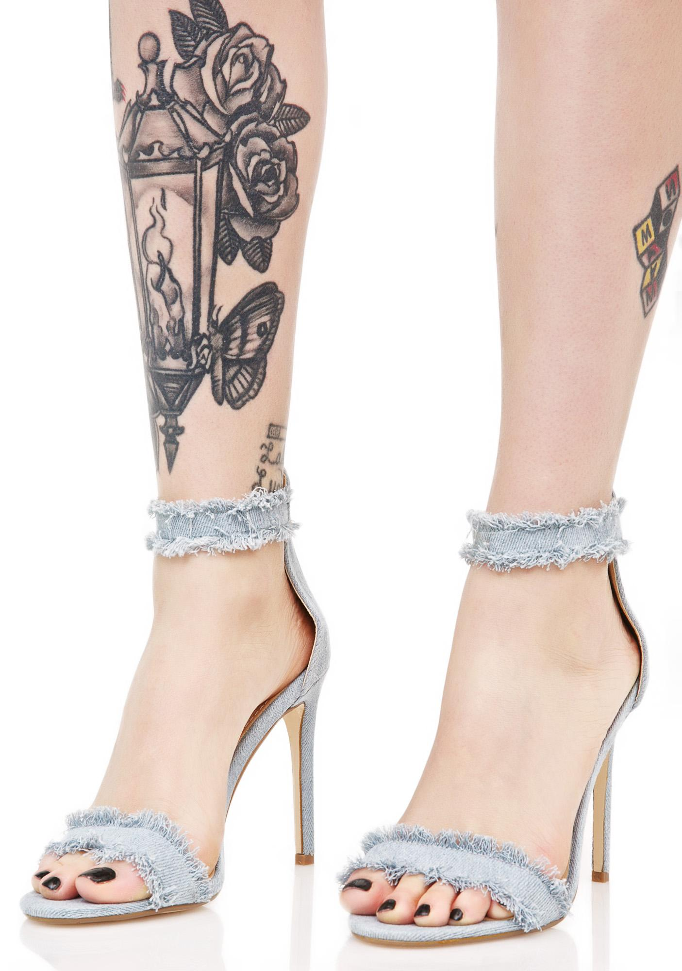 Make Me Denim Heels
