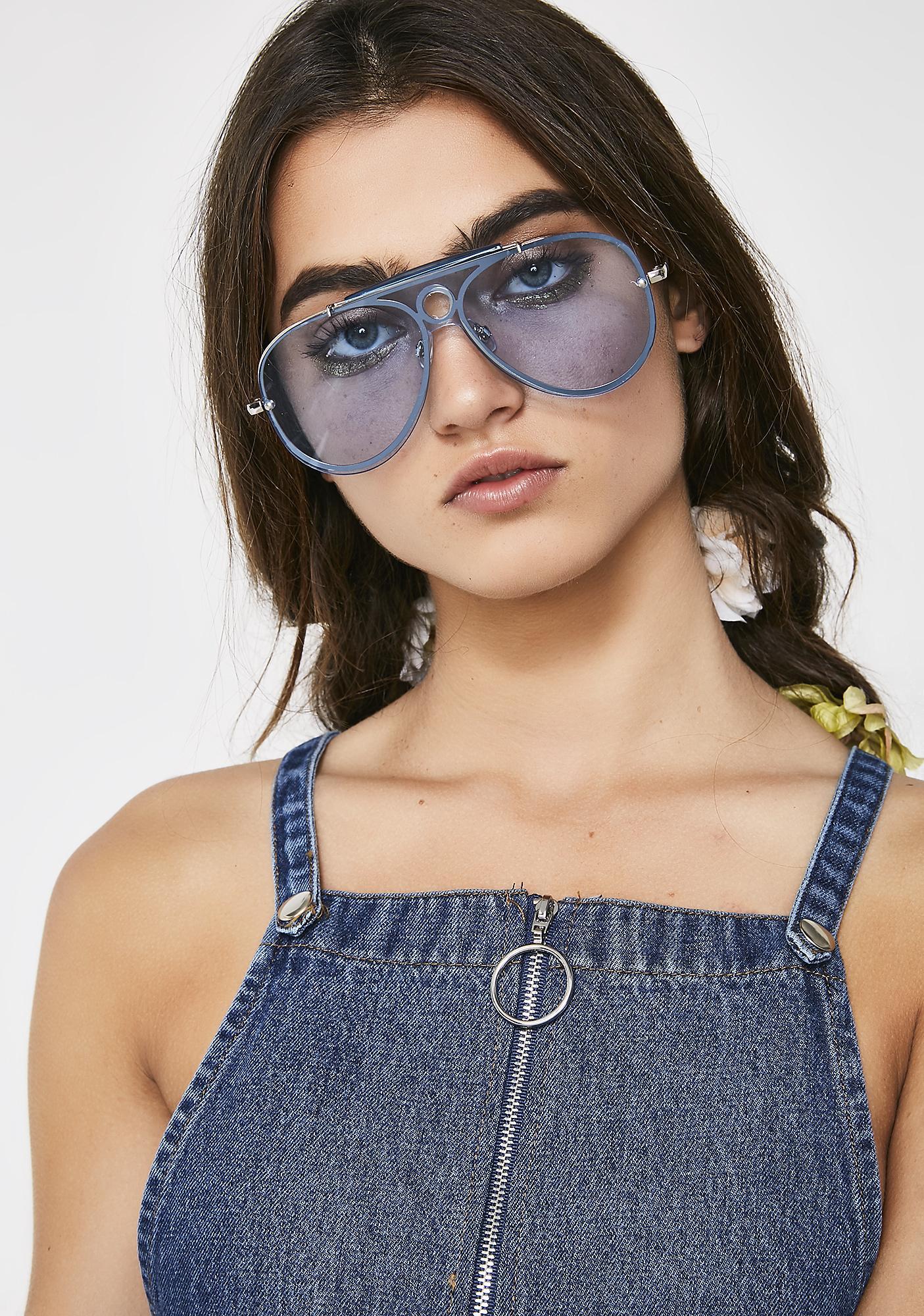 562044ec0bfa Blue Aviator Sunglasses | Dolls Kill