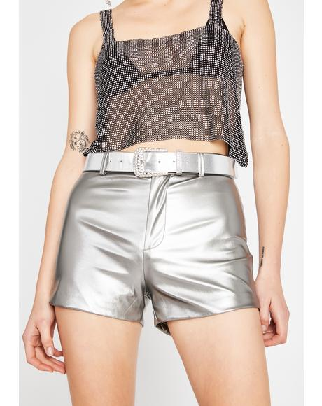 Stellar Sass Metallic Shorts