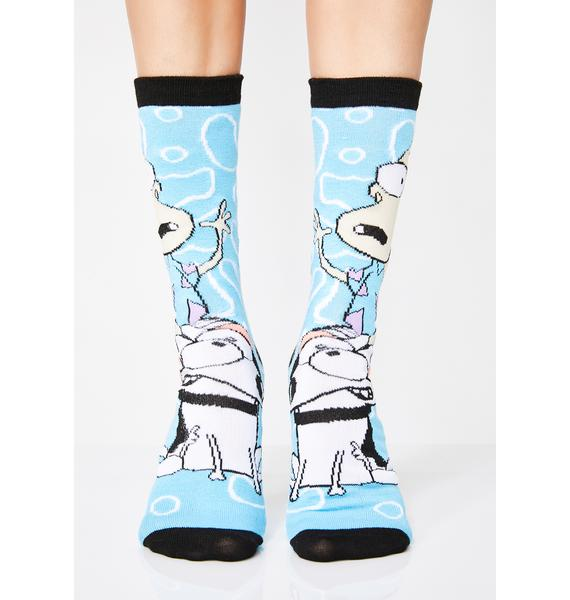 Wallaby Probs Crew Sock Set