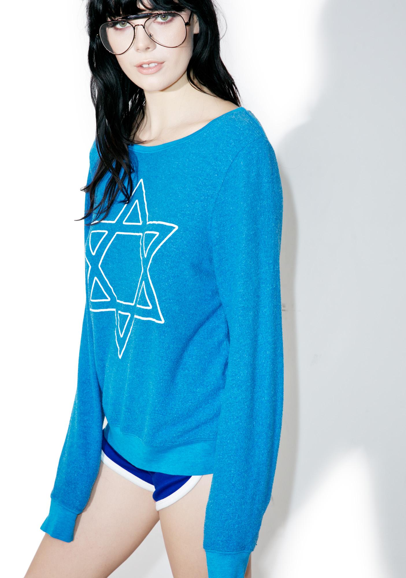 Wildfox Couture David's Back Baggy Beach Jumper
