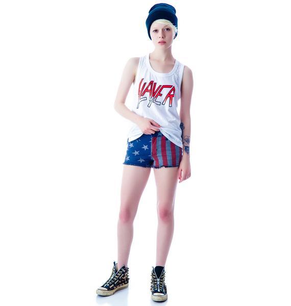 Kill City Stars and Stripes Hi Wire Shorts