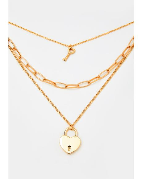 Lonely Heart Layered Necklace