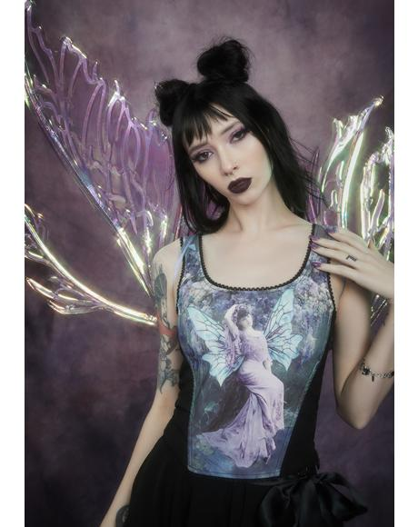 Ink And Feather Portrait Print Bodice