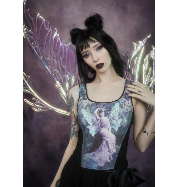 Widow Ink And Feather Portrait Print Bodice