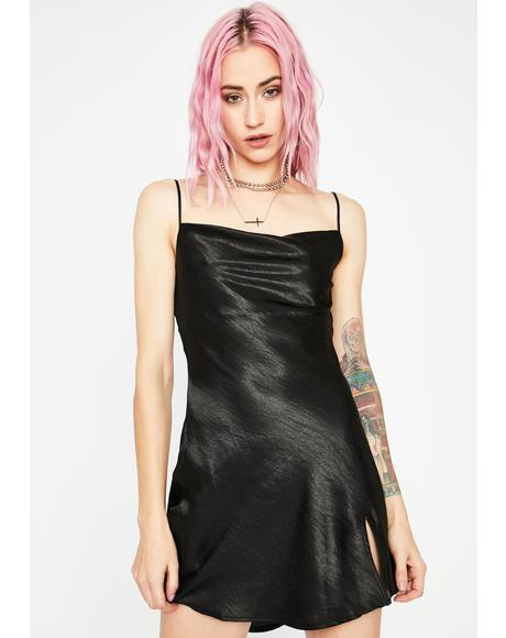 Here To Slay Satin Dress