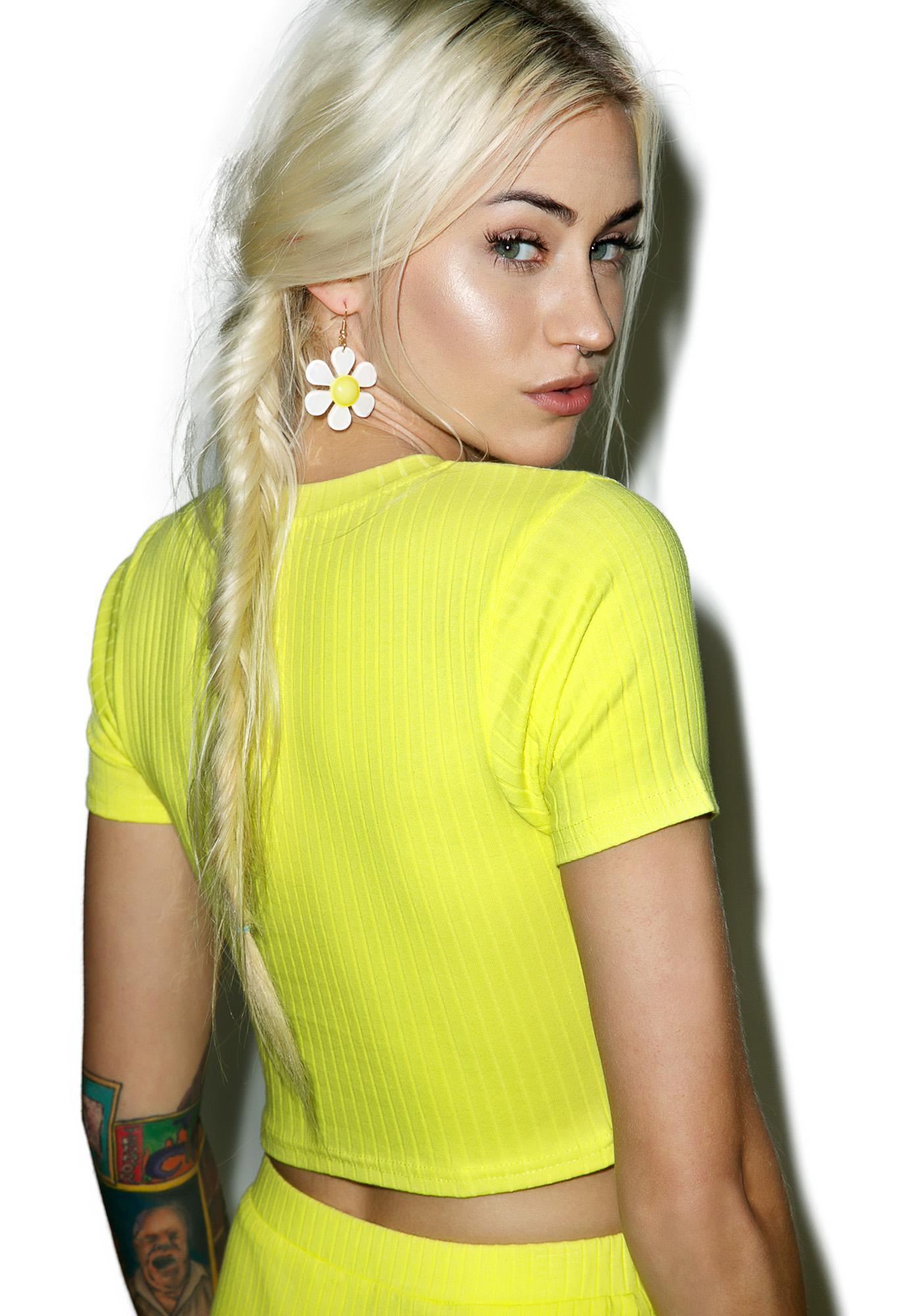 Citrine Crop Top