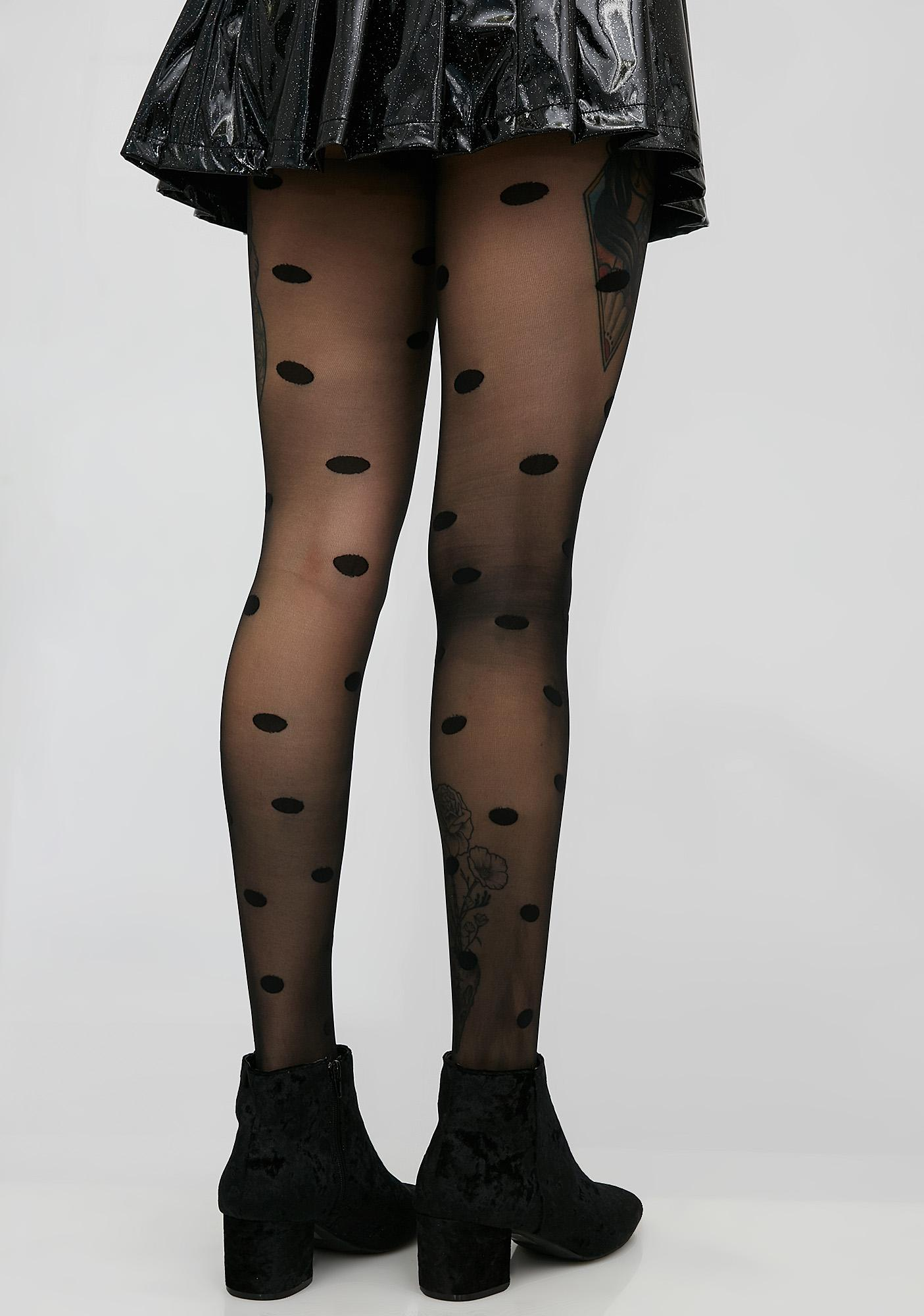 House of Holland Large Spot Tights