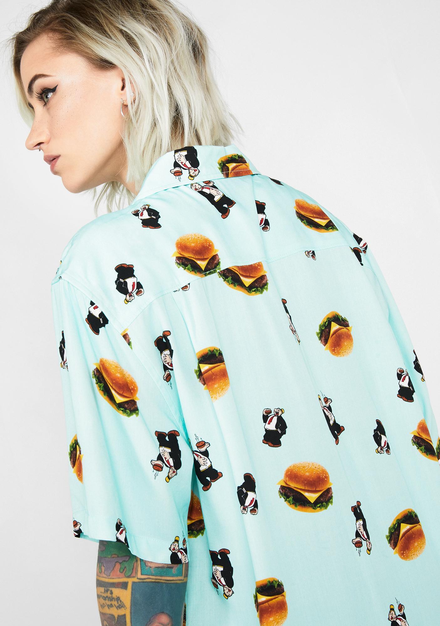 HUF Wimpy Burger Button Up
