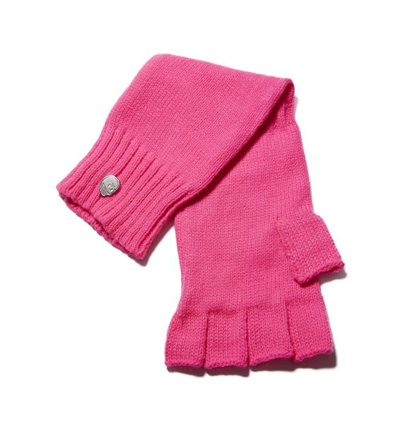 Cheap Monday Collage Fingerless Gloves